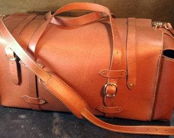 """Rigid Leather """"Weekender"""" Duffel Bag"""