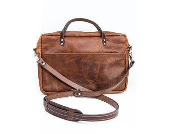 Bison Leather Briefcase Satchel