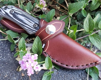 Leather Sheath For The Benchmade Hidden Canyon Hunter
