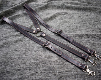 Upgraded Leather Suspenders