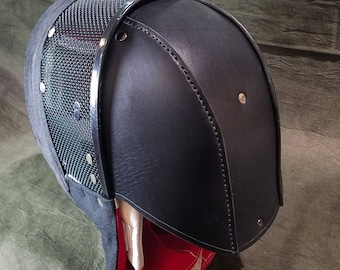 Stitched Leather Back Of the Head Protection