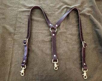 Handmade Leather Suspenders