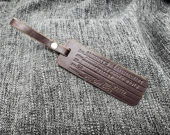 Handmade Leather Luggage Tag