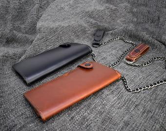 Leather Trucker Wallet