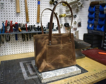 Upgraded Handmade Leather Tote Bag
