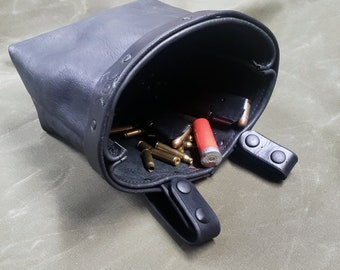 Bison leather Dump Bag
