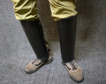 Leather Greaves Style 2
