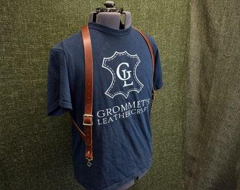 Handmade Leather Side Clip Suspenders