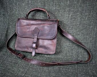 Handmade Bison Leather Briefcase