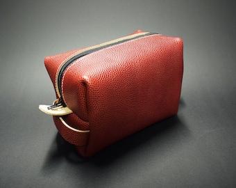 Football Leather Dopp Kit/Toiletry Bag