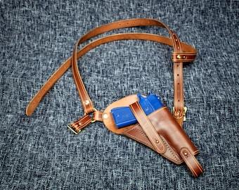 Handmade Leather Tanker Holster