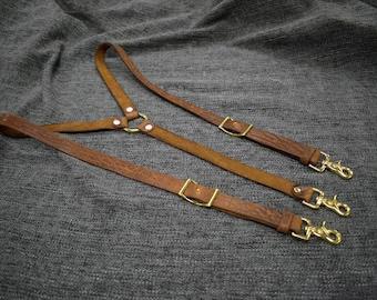 Bison leather Suspenders