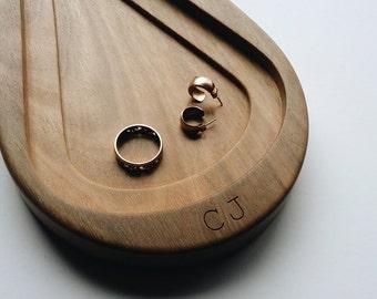 Personalised Raindrop Australian Hardwood Tray
