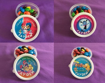 12 Personalized Candy Cups / Party Favors - Shimmer & Shine, Vampirina, Bubble Guppies, My Little Pony