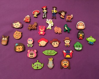 Toy Story Shoe Charms for Crocs, Silicone Bracelet Charms, Party Favors, Jibbitz / PVC Keychains or Buzz Necklace