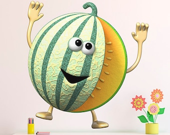 Wall decals fruit melon A245 - Stickers fruit melon A245