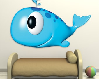 Wall decals whale A129 - Stickers baleine A129