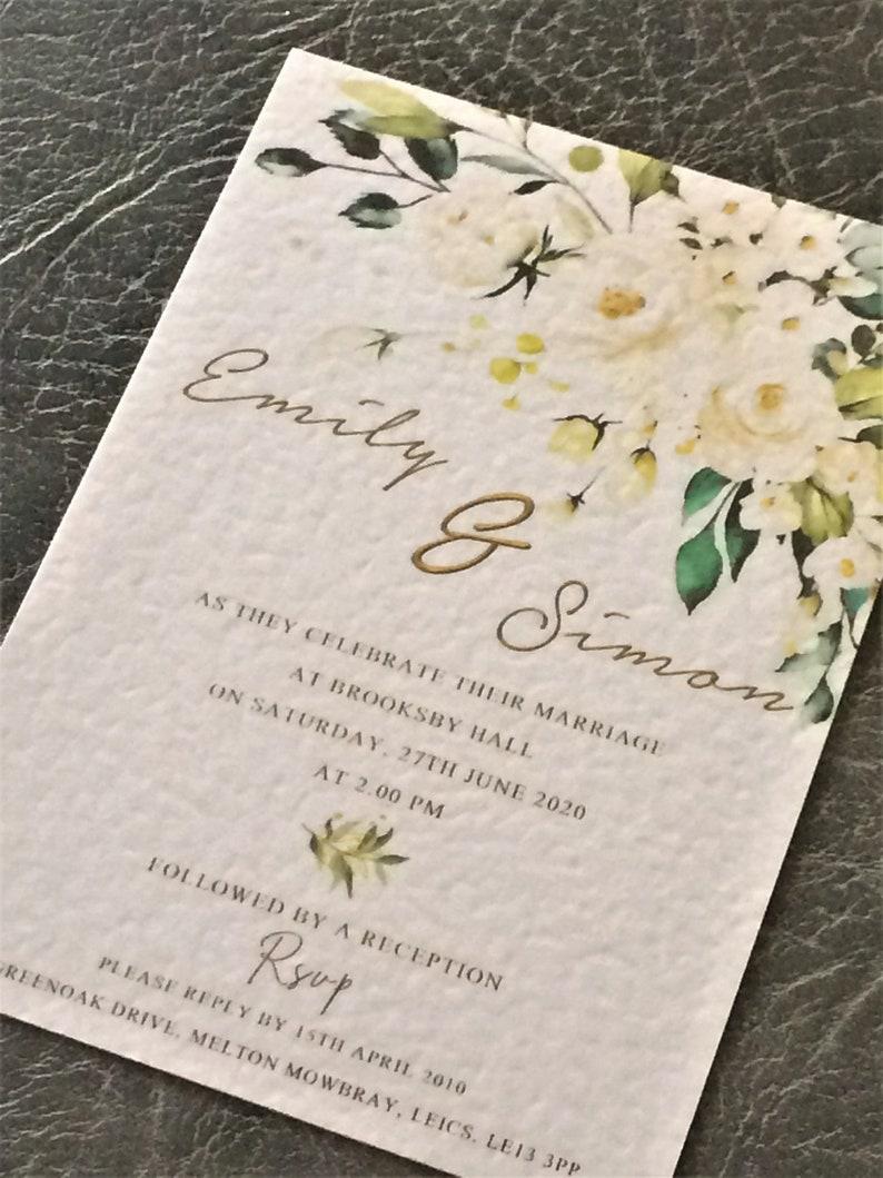 Wedding Invitation A6 Flat Invite   Vintage Watercolour Sample (1) 0.99