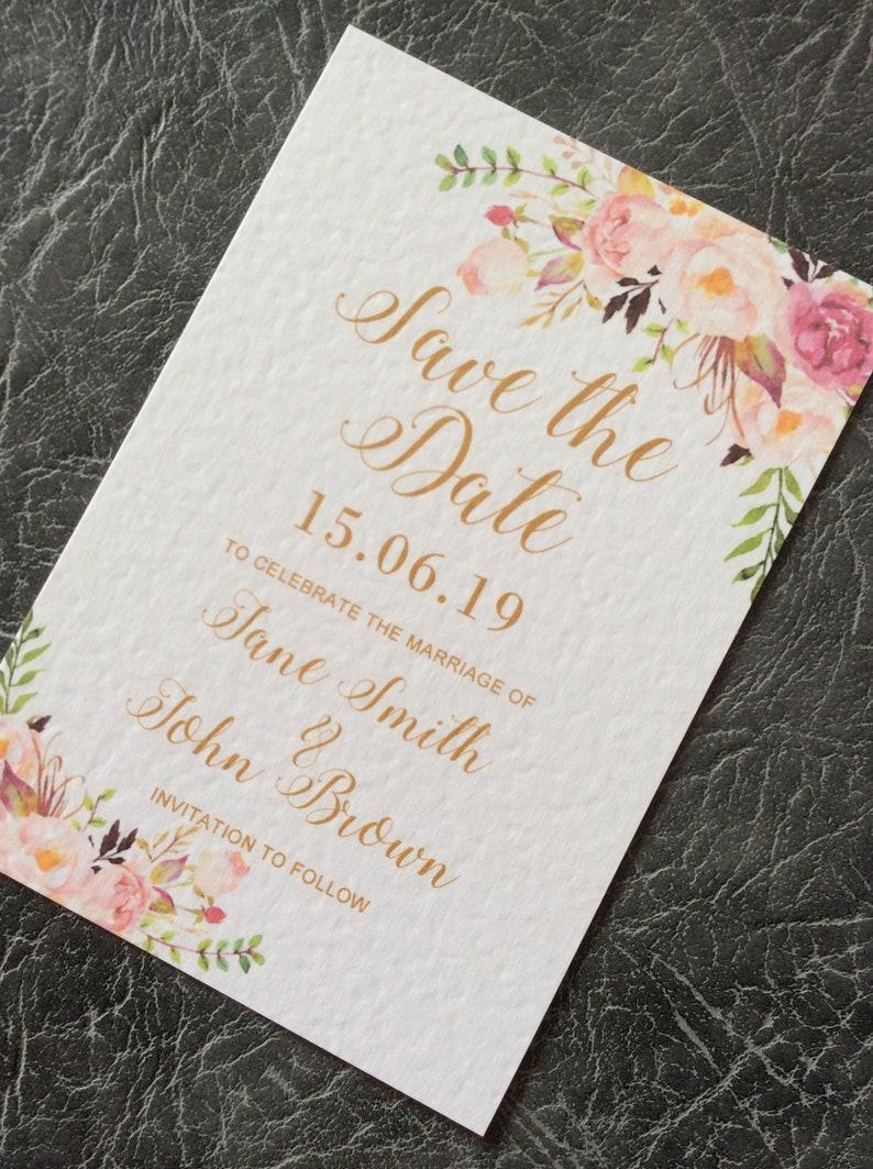 Save the Date Wedding Card  Floral Vintage Sample (1) 0.99