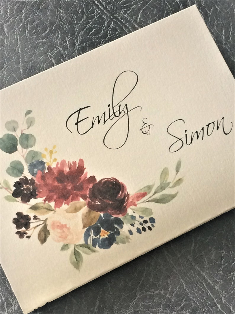 Wedding Invitation  Floral Concertina Style Invite with Sample (1) 1.99