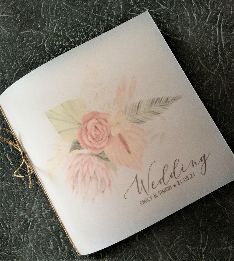 Wedding Invitation Boho Chic Watercolour Floral Dusky Pink Sample (1) 1.99