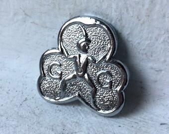 Girl Girl Brooch Pin/ Vintage Brooch/ Girl Guide Club/ Vintage Brooch Pin Clip/ 80s Brooch/ Collectors Pin/ Uk Brooch