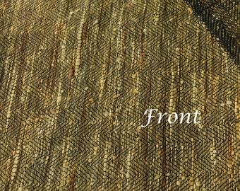 Honey Gold khadi silk Herringbone fabric Handloom fabric upholstery fabric Indian raw silk fabric by the yard