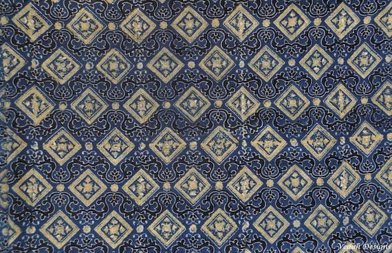 Piastrelle marocchine ajrak tessuto blocco stampa tessuto etsy
