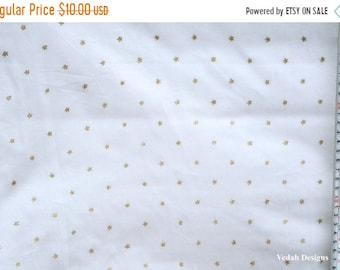 On Sale Glitter star print Muslin fabric cotton Voile fabric sheer fabric by the yard