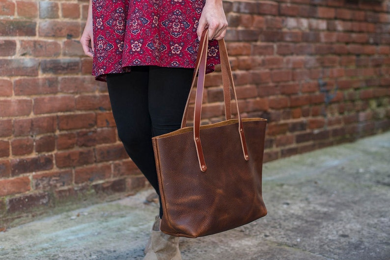 9f2f58b111 USA Made Leather Tote Full Grain Leather Tote Bag The