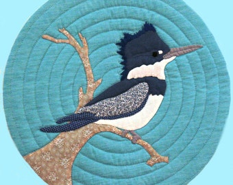 Kingfisher Quilted Wall Hanging