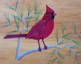 Cardinal Folk Art Pattern