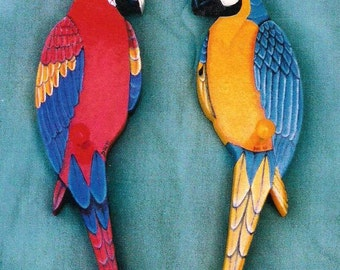 Macaw Folk Art Patterns