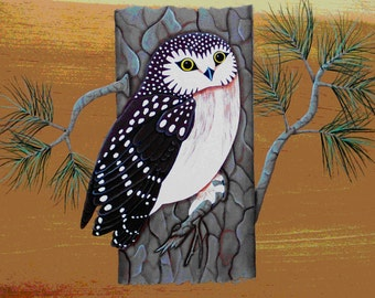 Sawhet Owl Folk Art Pattern