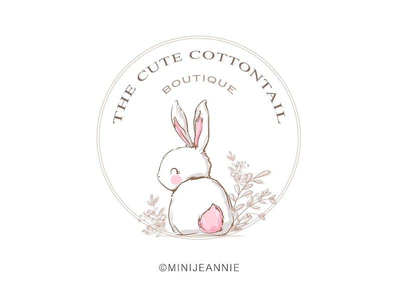 7dbf2d011ce07 Rabbit Logo-Bunny Logo-Cottontail Logo-Animal Logo-Kids Logo-Watercolor  Logo-Etsy Logo-Photography Logo-Boutique Logo-Free Font Change