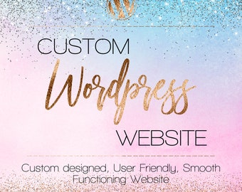 Custom Wordpress - Blog Design - WordPress Blog - Mobile Responsive - Website Design - Custom Blog - Business - Photography - Portfolio
