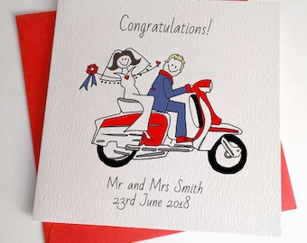 Lambretta  Wedding Card or  Scooter Anniversary Card