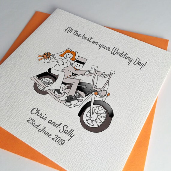 Partecipazioni Matrimonio Harley.Harley Wedding Card Or Biker Anniversary Card Etsy