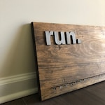 Run Dance Swim | Lg Wooden Medal Hanger