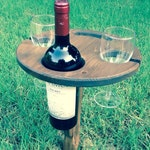 Folding wine table - picnic table - outdoor wine table