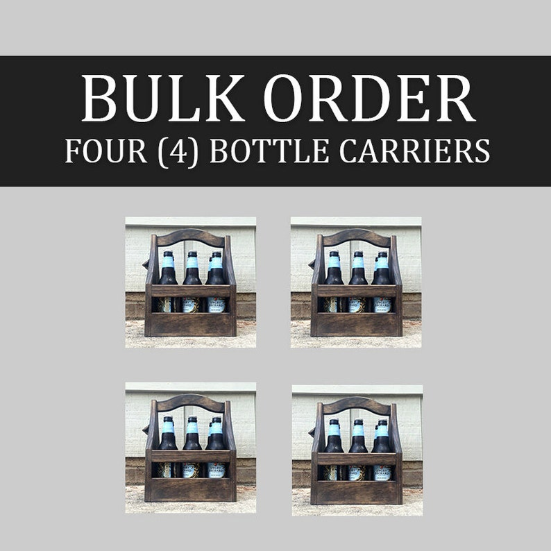 4-pack of 6-packs  Bulk Customizable Beer Caddies / Bottle image 0