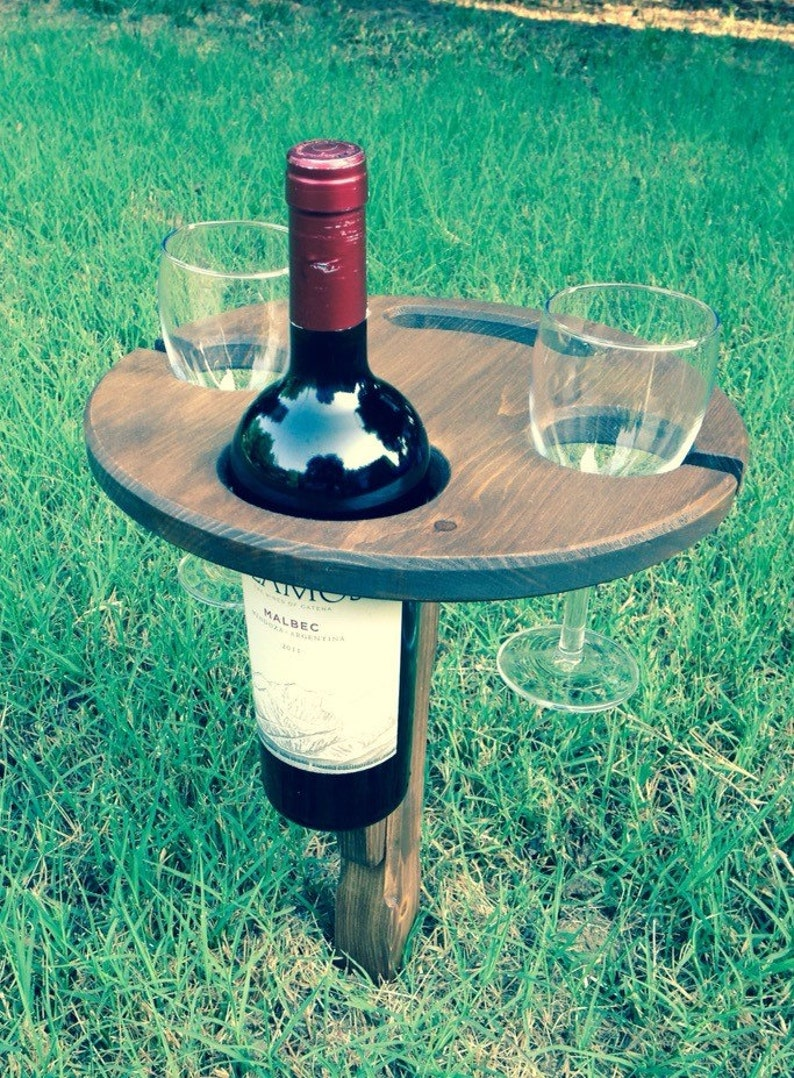 Folding wine table  picnic table  outdoor wine table image 0