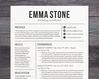 Resume Template   CV Template For Word, Mac Pages, Professional Resume  Design, Free