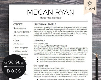 Cv Template Design With Photo Word Mac Or Pc Professional Etsy