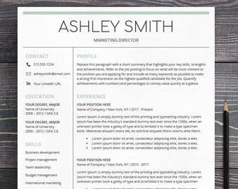 resume template mac pages
