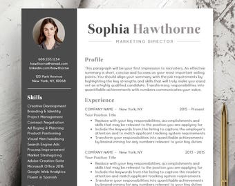 Resume Template Cv Template Word For Mac Or Pc Etsy