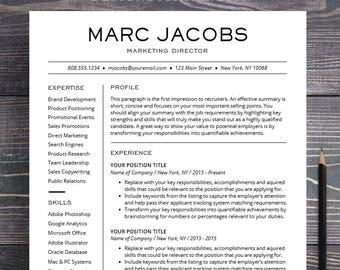 Resume Template Professional Creative Instant Download Etsy
