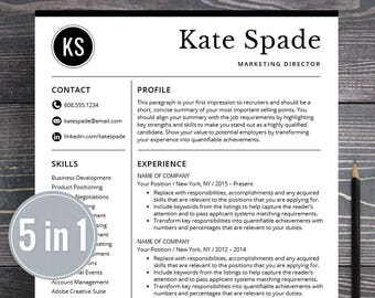 Professional Resume Template with Photo Modern CV Word | Etsy