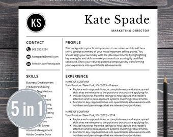 professional resume templates resume bundle cv creative modern etsy