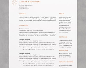 word for mac resume template